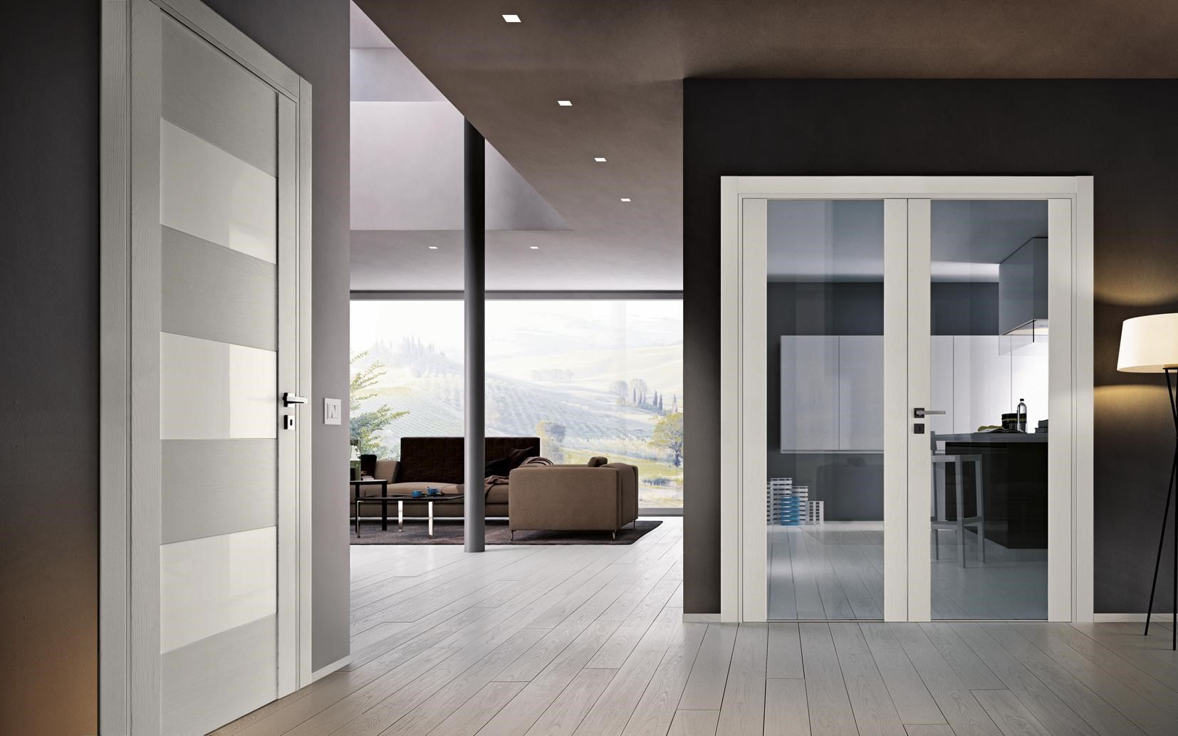 белые двери в интерьере квартиры фото нам